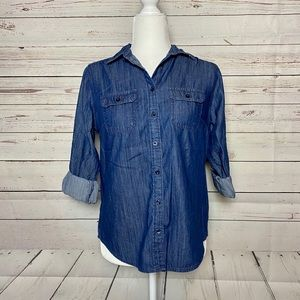 St. John's Bay Denim Button-Up